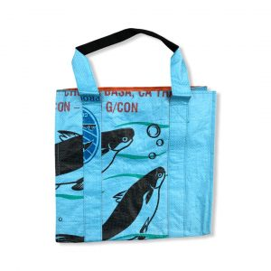 Einkaufstasche aus recycelten Reissack von Beadbags in blau | Beadbags