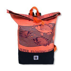 Life Backpack Rucksack aus recycelten Reissack in orange | Beadbags