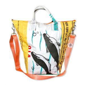 Multifunktionale Wäschesäcke aus recycelten Reissack farbenfroh von Beadbags | Beadbags