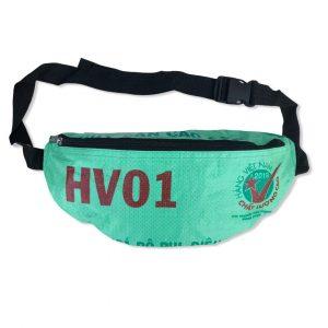 Beadbags Bauchtasche aus recycelten Reissackmaterial Ri76 Dunkelblau 10 vorne