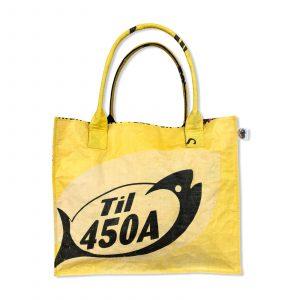 Einkaufstasche aus recycelten Reissack von Beadbags in gelb   Beadbags