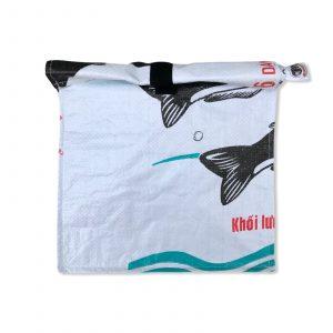 Lunchbag aus recycelten Reissack in weiß   Beadbags
