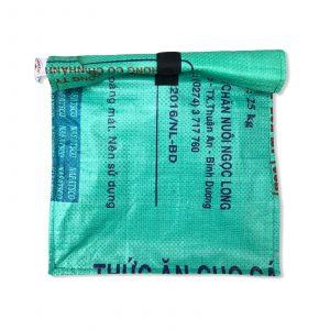 Lunchbag aus recycelten Reissack in mittelgrün | Beadbags
